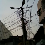 Utility pole in Hyderabad, India